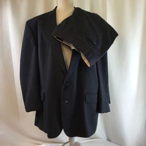 Barrington Men's Dark Blue Pin Striped Full Suit